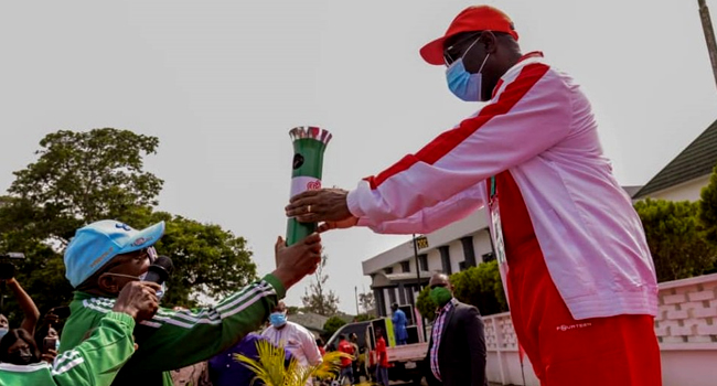 National Sports Festival: Obaseki Receives Torch Of Unity