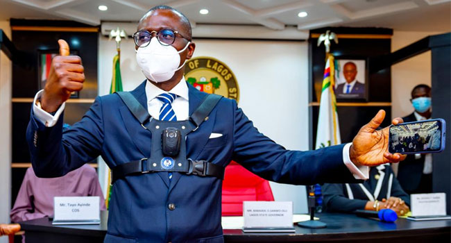 Sanwo-Olu Launches Body Cameras For Lagos Law Enforcement Officers