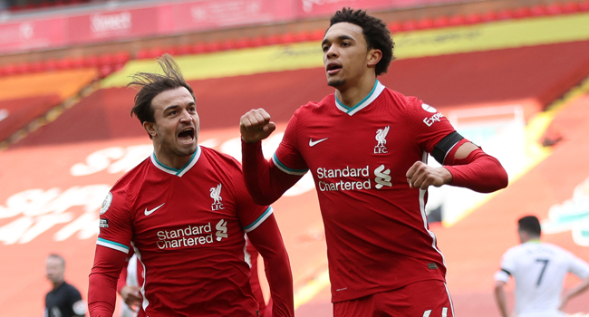 Liverpool Strike Late Against Villa To End Record Anfield Losing Streak