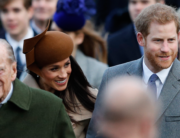 In this file photo taken on December 25, 2017 (L-R) Britain's Prince Philip, Duke of Edinburgh, US actress and fiancee of Britain's Prince Harry Meghan Markle and Britain's Prince Harry (R) arrive to attend the Royal Family's traditional Christmas Day church service at St Mary Magdalene Church in Sandringham, Norfolk, eastern England. Adrian DENNIS / AFP