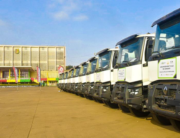 Sanitation trucks provided by the Guinea government to combat challenges of waste disposal.
