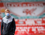 Liverpool's German manager Jurgen Klopp walks on the pitch ahead of the English Premier League football match between Liverpool and Newcastle United at Anfield in Liverpool, north west England on April 24, 2021. DAVID KLEIN / POOL / AFP