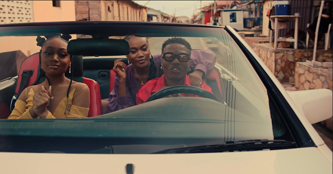 Wizkid and fast-growing singer Tems take to the colorful streets of Accra, Ghana