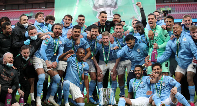 Man City Beat Spurs To Win Fourth Consecutive League Cup
