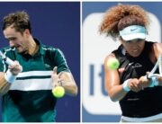 A photo combination of top seeds Daniil Medvedev and Naomi Osaka. Photo: AFP