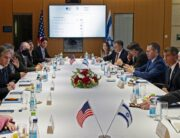 Israeli Foreign Minister Gabi Ashkenazi (2nd-R) meets with US Secretary of State Antony Blinken in Jerusalem on May 25, 2021, days after an Egypt-brokered truce halted fighting between the Jewish state and the Gaza Strip's rulers Hamas Alex Brandon / POOL / AFP