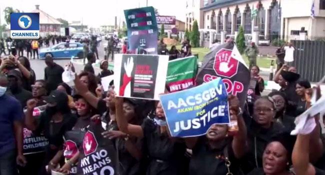 Iniubong Umoren's Murder: Women March In Akwa-Ibom To Demand Justice