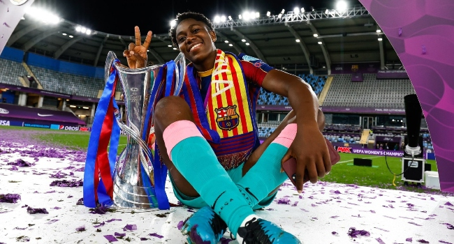 Oshoala Becomes First African To Win UEFA Women's Champions League