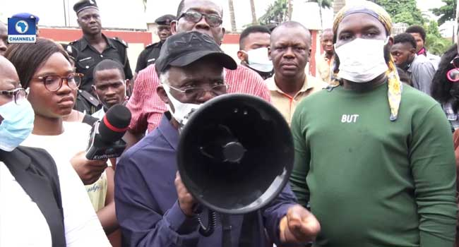 Falana, Falz Join CSOs To Protest Insecurity, Unemployment