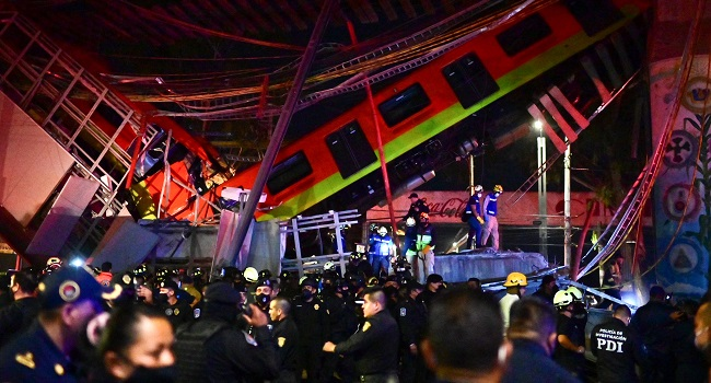 20 Dead, Dozens Hurt As Elevated Train Collapses In Mexico