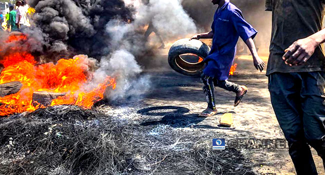 Police Station Burnt Amid Protest In Niger