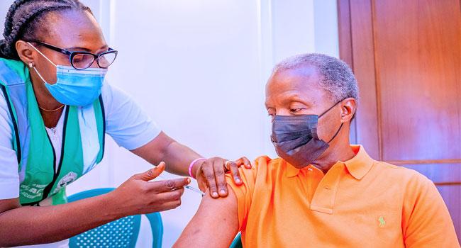 Osinbajo Receives Second Dose Of COVID-19 Vaccine