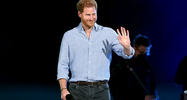 Prince Harry Gets Standing Ovation At 'Vax Live' Concert In Los Angeles