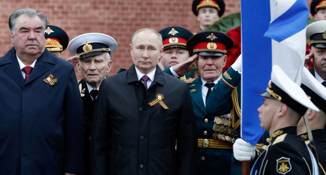 Putin Vows To 'Firmly' Defend Russian Interests On WWII Victory Day