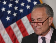 In this file photo taken on May 25, 2021 Senate Majority Leader Chuck Schumer (D-NY) speaks at a news conference following a policy luncheon meeting with other Senate Democrats on Capitol Hill May 25, 2021 in Washington, DC.MANDEL NGAN / AFP