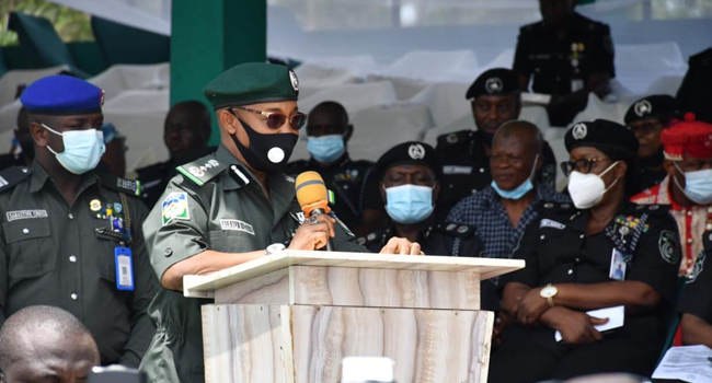 Acting Inspector-General of Police (IGP), Usman Baba delivered remarks at the launch a new, special operation for the South-East in Enugu on May 18, 2021.