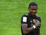 In this file photo taken on May 22, 2021 Bayern Munich's Austrian defender David Alaba gestures prior the German first division Bundesliga football match Bayern Munich vs FC Augsburg in Munich, southern Germany. CHRISTOF STACHE / POOL / AFP