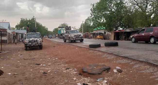 The Nigerian army said it raided a Boko Haram logistics base in Guibja on May 29, 2021.