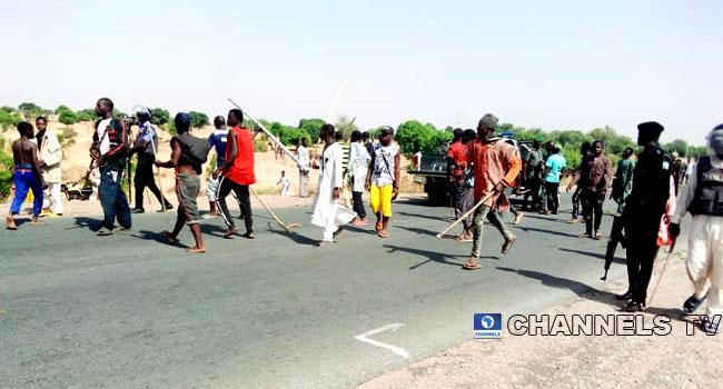 Zamfara Youths Block Highway, Destroy Vehicles In Violent Protest