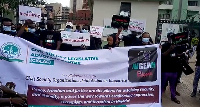 PHOTOS: Civil Society Groups Protest In Abuja, Condemn Killings Across Nigeria