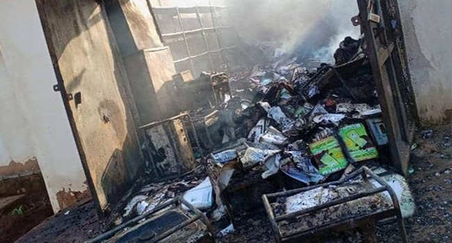INEC Laments Loss To Fire Outbreak At Enugu Office, Demands Probe Into Incident