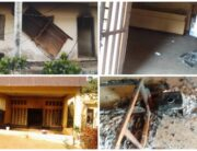 This photo combination shows parts of the NDLEA office in Ohafia, Abia State, after it was burgled on May 11, 2021.