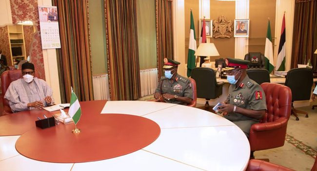 Buhari Meets With New Chief Of Army Staff, Calls For More Synergy Between Security Agencies