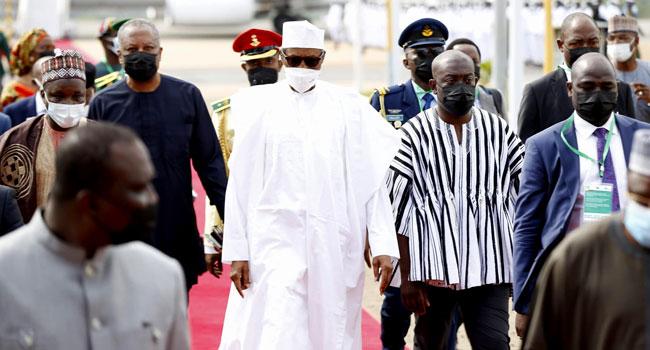 Buhari Arrives In Ghana For ECOWAS Summit