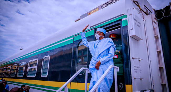 We Will Continue To Prioritise Railway System – Buhari – Channels Television