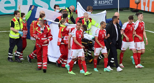 EURO 2020: Denmark's Eriksen Says 'I'm Fine' From Hospital