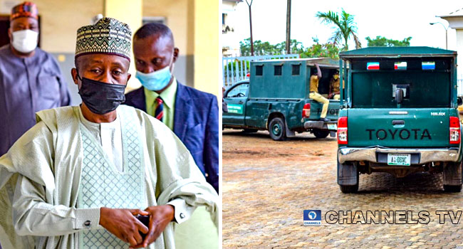 PHOTOS: Lawan Escorted To Prison After Getting Seven Years Sentence For Bribery