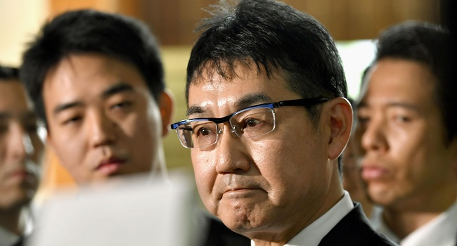 Former Japan Justice Minister Jailed For Vote-Buying