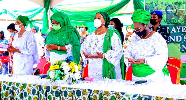 Sanwo-Olu's Wife, Women Pray Against Insecurity In Nigeria
