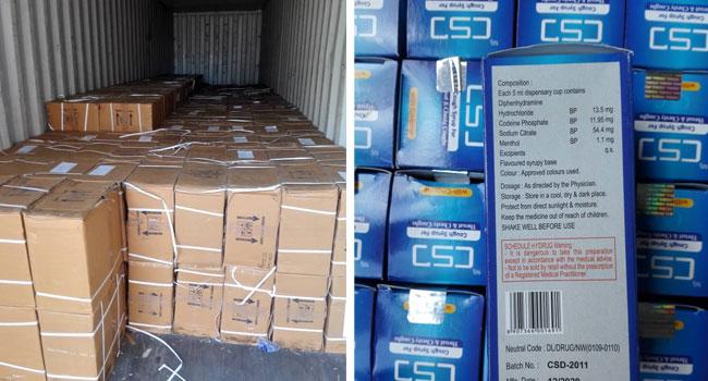NDLEA Intercepts 100,000 Bottles Of Codeine Syrup At Onne Port