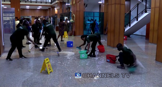 Downpour: National Assembly Flooded As Roofs Leak