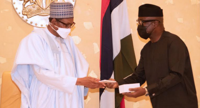 Buhari has received about 12 made in Nigeria mobile phones