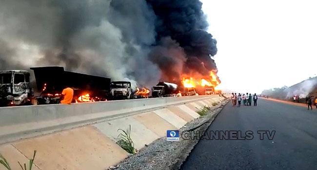 Explosion: Six Tankers, Five Trucks Burnt On Lagos-Ibadan Expressway