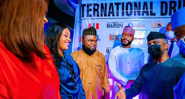 International Day Against Drug Abuse: Osinbajo Attends Premiere Of Nollywood Movie