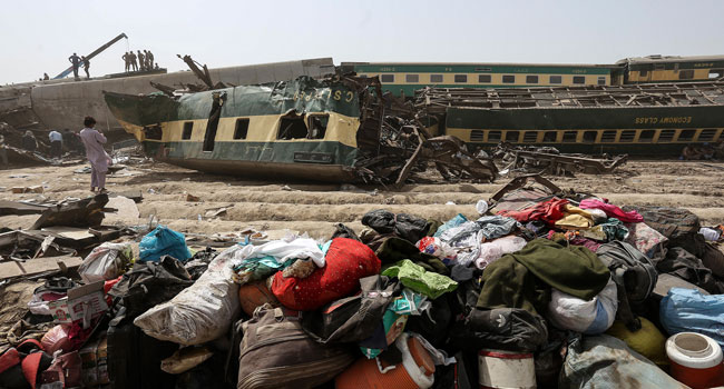 At Least 43 Killed In Pakistan Express Train Collision