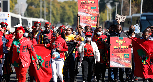Thousands March To Demand Covid Vaccines In South Africa