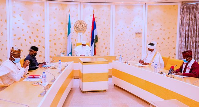 President Muhammadu Buhari met with religious leaders on June 11, 2021.