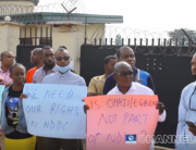 Aggrieved youths in Imo protested against the Niger-Delta Development Commission on June 28, 2021.