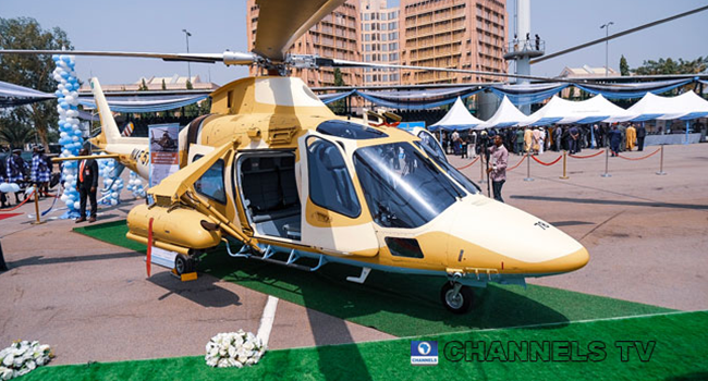A file photo of a Nigerian Airforce Helicopter.