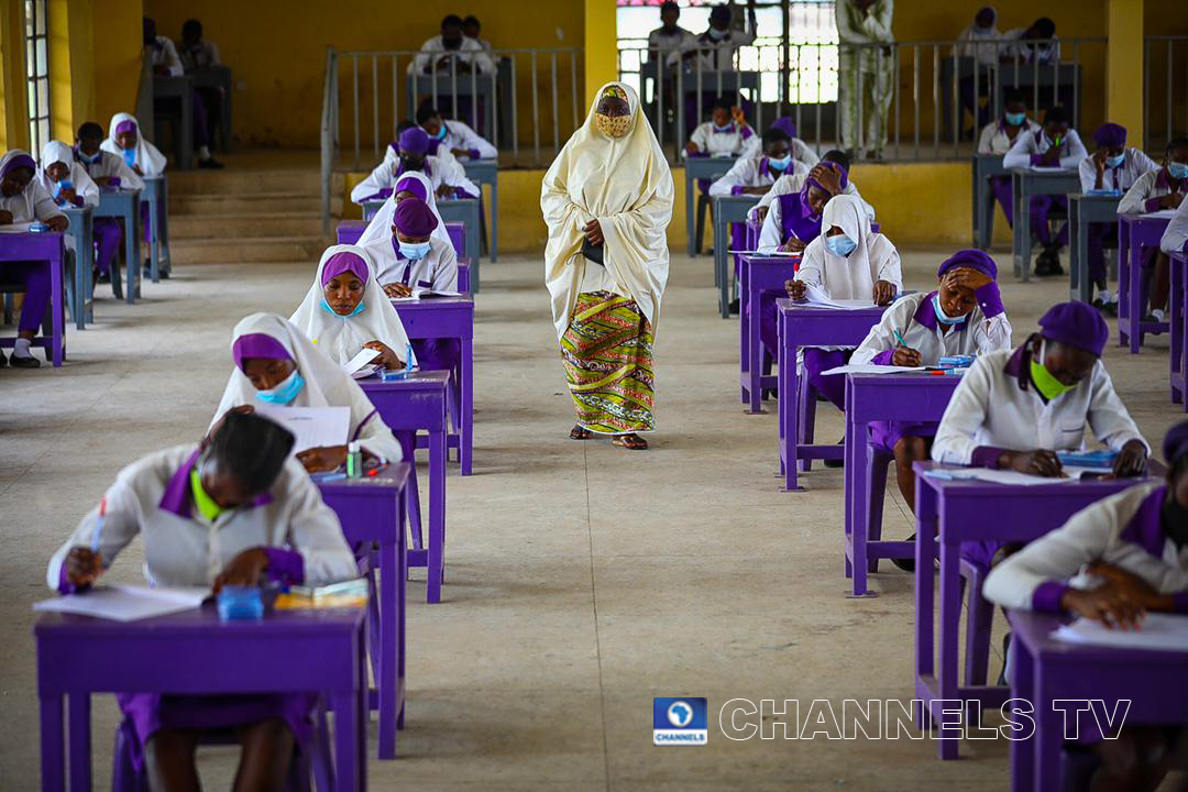 When examinations were held in August 2020, authorities emphasised social distancing measures. Sodiq Adelakun/Channels Television