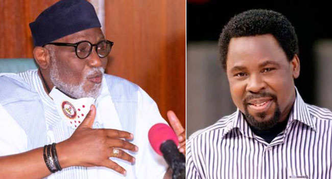 TB Joshua Was A Blessing To Humanity, Says Akeredolu