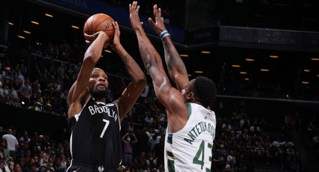 Durant Scores 29 As Nets Roll Over Bucks In NBA Series Opener