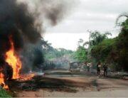 Scene of the tanker explosion.