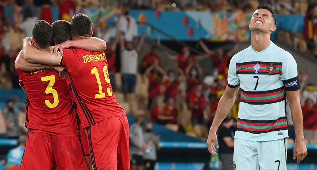 Portugal Crash Out Of Euro 2020 After Defeat To Belgium