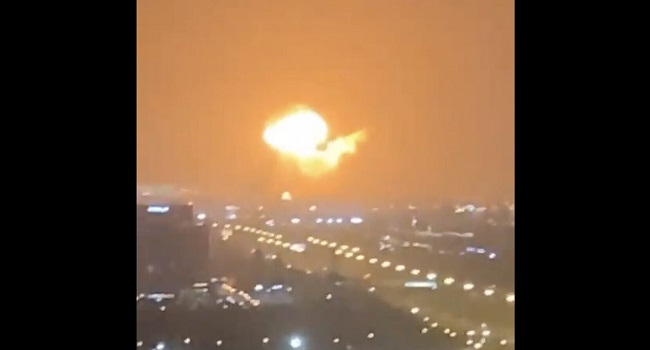 Fire At Dubai Port After Loud Explosion