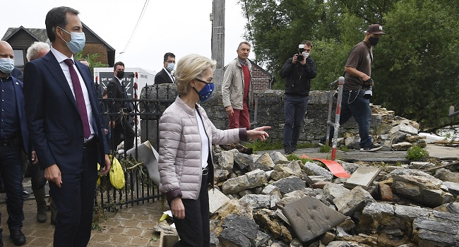 Belgian Toll Mounts To 24 As PM Visits Flood Zone